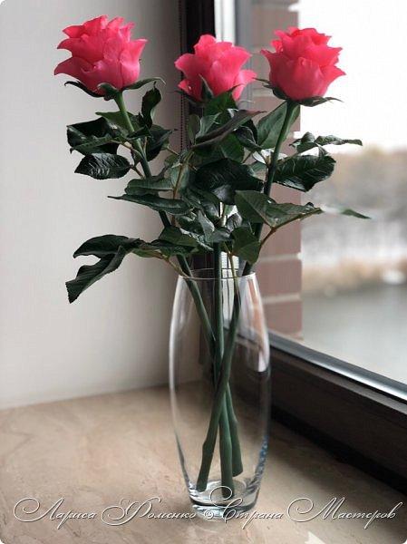 Добрый день! Совсем забыла показать мою недавнюю работу) Солнышка не было, а розы нужно было уже отдавать.  фото 2