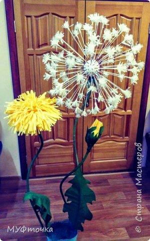 Ростовые цветы из гофр.бумаги) фото 3
