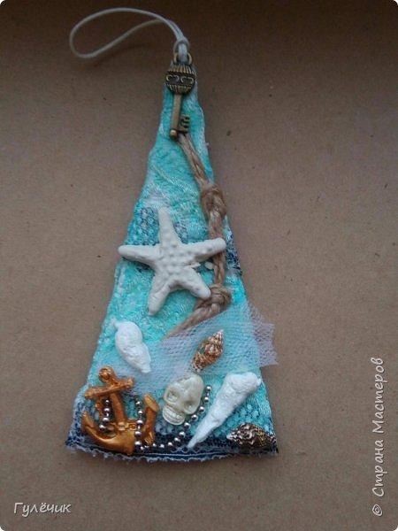 Ещё одна ёлочка-отошла от привычных уже вам ёлочек, создала такую - морскую фото 1
