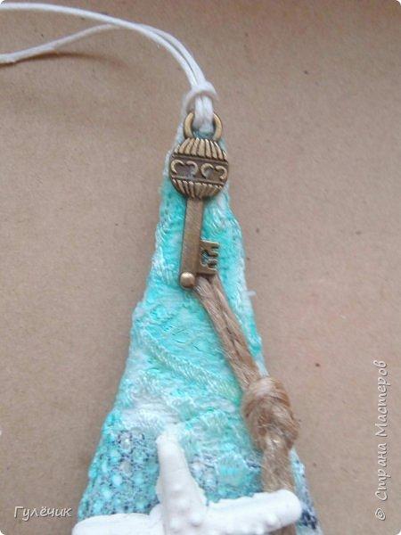Ещё одна ёлочка-отошла от привычных уже вам ёлочек, создала такую - морскую фото 3