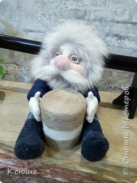 Выполнен из носок))Шевелюра-натуральный песец))Глаза покупные)) фото 5