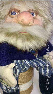 Выполнен из носок))Шевелюра-натуральный песец))Глаза покупные)) фото 3