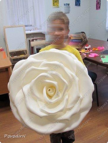 Вот и я добралась до ростовых цветов из изолона. фото 8