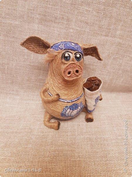 Доброй ночи всем!  не думала,что еще вернусь к этой теме,но бывший начальник попросил сделать свинок Хотя планировались все по отдельности.. фото 5