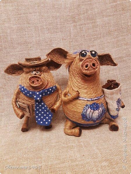 Доброй ночи всем!  не думала,что еще вернусь к этой теме,но бывший начальник попросил сделать свинок Хотя планировались все по отдельности.. фото 1