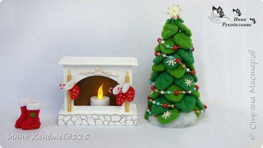 Сделала камин из картона для кукол. У меня давно уже новогоднее настроение, а у вас?  Материалы: Пивной картон, клей, грунт, фетр, флис, полимерная глина, нитки, акриловые краски, бумага. Изделие: Камин для кукол, кукольная мебель. Работа с картоном. Создаю разные вещи своими руками. Сейчас много работаю с кукольным миром. Делаю вещи для кукол. фото 4