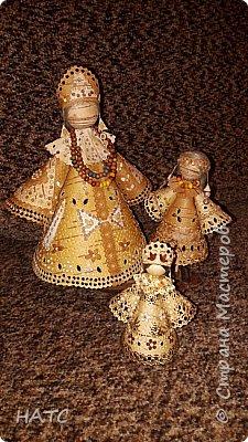 Берестяная куколка, первый опыт. Делала по образу и подобию в интернете. Экологически чистый материал. фото 11