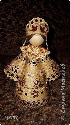 Берестяная куколка, первый опыт. Делала по образу и подобию в интернете. Экологически чистый материал. фото 9