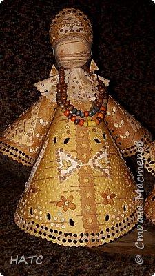 Берестяная куколка, первый опыт. Делала по образу и подобию в интернете. Экологически чистый материал. фото 10