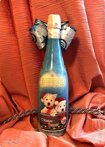 Сделала бутылки к Новому году Свиньи!!! фото 8