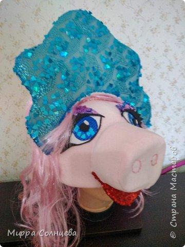 Символ года Шапка маска Свинка  фото 5