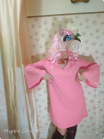 Символ года Шапка маска Свинка  фото 3