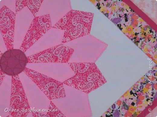 Сшила покрывало для маленькой девочки - 95 х 120 см. Кажется, что намудрила с цветом. Была задумка сшить в розовых тонах. фото 2