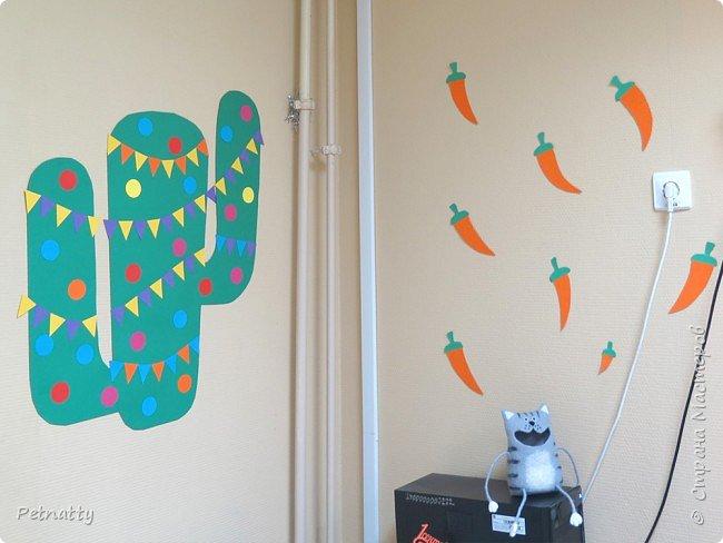В этом году в школе темой новогодних украшений были разные страны. Помогла коллеге украсить класс в мексиканском стиле. фото 5