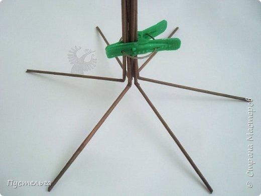 """Быстро и просто сделаем ёлочку в кукольный домик! Трубочки накрутим из трети листа потребительской бумаги """"Кондопога"""" на спицу 1,2 мм. Коричневые -14 штук Зелёные - 15 штук фото 2"""