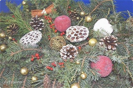 Новогодняя композиция под заказ из разного вида хвойных. фото 4