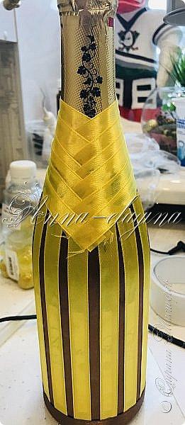 Сейчас я вам расскажу и покажу, как за 30 минут сделать из обычной бутылки-необычную😉 фото 8