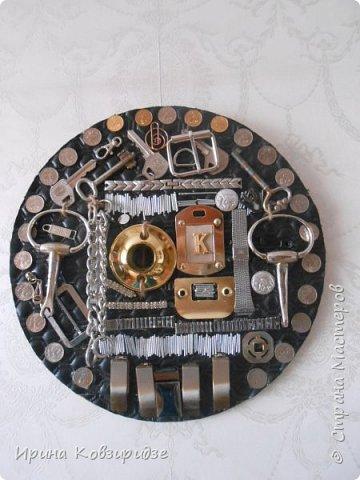 Всегда собираю металлические предметы. Из них получаются интересные панно Панно №1 фото 2
