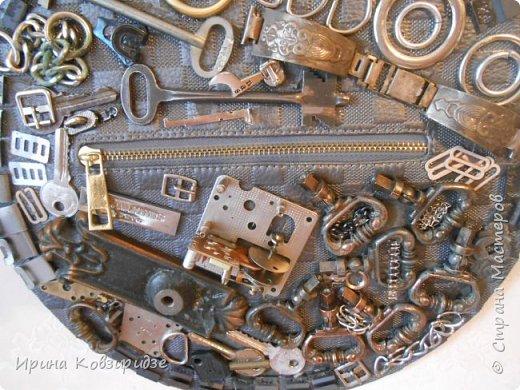 Всегда собираю металлические предметы. Из них получаются интересные панно Панно №1 фото 6