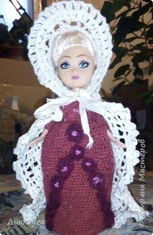 У дочери сломалась любимая кукла (поломались ноги). Решила попробовать, что-то с ней сделать, как-то ее отремонтировать. Взяла для этого все, что нашлось под рукой бутылку от сока, поролон, проволоку.  фото 10