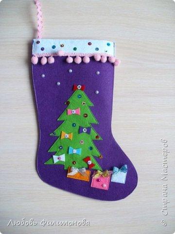 Всех жителей Страны с наступившим Рождеством. Хочу показать вам последнюю партию Рождественских сапожек. Делала из фетра, для подарка родным Можно использовать для декора квартиры, упаковки подарка. фото 2