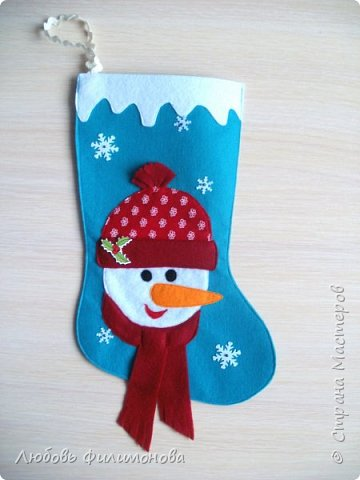 Всех жителей Страны с наступившим Рождеством. Хочу показать вам последнюю партию Рождественских сапожек. Делала из фетра, для подарка родным Можно использовать для декора квартиры, упаковки подарка. фото 3