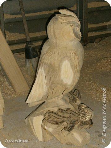 Здравствуй, Страна!  Представлю сегодня работы моего соседа, сделаны из дерева. Из инструментов он использует только бензопилу и болгарку. фото 16