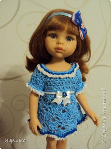 """Здравствуйте мастера и мастерицы! Признаюсь со всей ответственностью, что впадаю в детство (а, если честно, из него еще и не выходила), продолжаю """"играть"""" с куклами. Давно уже засматриваюсь на испанских куколок Паола Рейна. Смотрела-смотрела, и решила сделать себе подарок на ДР - выписала из интернет-магазина красавицу Кристи. И вот она нарядная (а точнее нюд) добралась до меня, чему я очень рада, чем и спешу похвалиться,  ну и конечно, скорее одеть красавицу. фото 5"""
