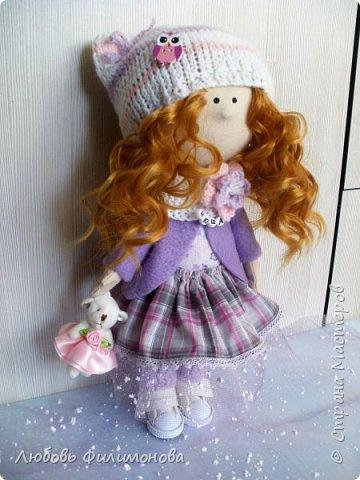 Приветствую жителей Страны Мастеров! Очень мне нравятся куколки большеножки, давно мечтала такую сшить. И вот решилась попробовать, сделала на подарок такую куколку - Нюшу. фото 2