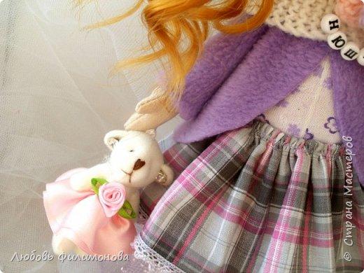 Приветствую жителей Страны Мастеров! Очень мне нравятся куколки большеножки, давно мечтала такую сшить. И вот решилась попробовать, сделала на подарок такую куколку - Нюшу. фото 6