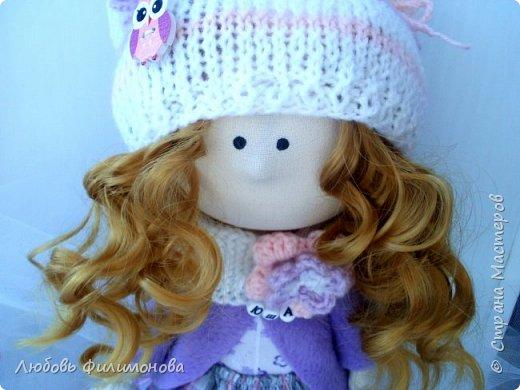 Приветствую жителей Страны Мастеров! Очень мне нравятся куколки большеножки, давно мечтала такую сшить. И вот решилась попробовать, сделала на подарок такую куколку - Нюшу. фото 3