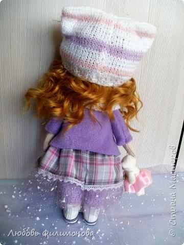 Приветствую жителей Страны Мастеров! Очень мне нравятся куколки большеножки, давно мечтала такую сшить. И вот решилась попробовать, сделала на подарок такую куколку - Нюшу. фото 8