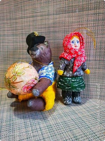 Всем привет! Сегодня хочу показать вам свои первые игрушки из ваты. Все делала по МК из инета. Делала и получала удовольствие)) Спасибо за МК !!!!!!! Первого сделала медведя по МК Елены Васько. фото 1