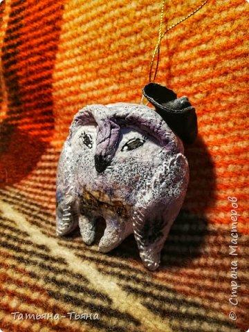Всем привет! Сегодня хочу показать вам свои первые игрушки из ваты. Все делала по МК из инета. Делала и получала удовольствие)) Спасибо за МК !!!!!!! Первого сделала медведя по МК Елены Васько. фото 7