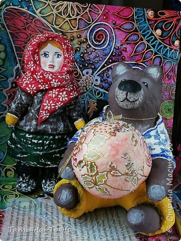 Всем привет! Сегодня хочу показать вам свои первые игрушки из ваты. Все делала по МК из инета. Делала и получала удовольствие)) Спасибо за МК !!!!!!! Первого сделала медведя по МК Елены Васько. фото 2