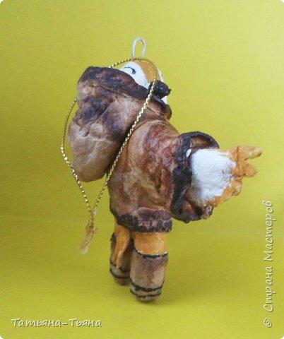 Всем привет! Сегодня хочу показать вам свои первые игрушки из ваты. Все делала по МК из инета. Делала и получала удовольствие)) Спасибо за МК !!!!!!! Первого сделала медведя по МК Елены Васько. фото 5