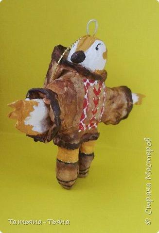 Всем привет! Сегодня хочу показать вам свои первые игрушки из ваты. Все делала по МК из инета. Делала и получала удовольствие)) Спасибо за МК !!!!!!! Первого сделала медведя по МК Елены Васько. фото 6