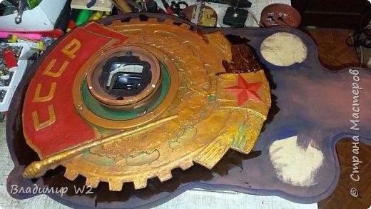 """Всем обитателям портала - привет!  Испёк свежий тортик: Steampunk Art часы, ночник: Орден """"Наш паровоз - вперёд летит!"""". фото 8"""