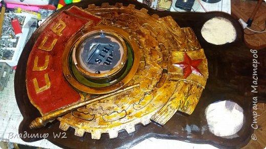 """Всем обитателям портала - привет!  Испёк свежий тортик: Steampunk Art часы, ночник: Орден """"Наш паровоз - вперёд летит!"""". фото 9"""