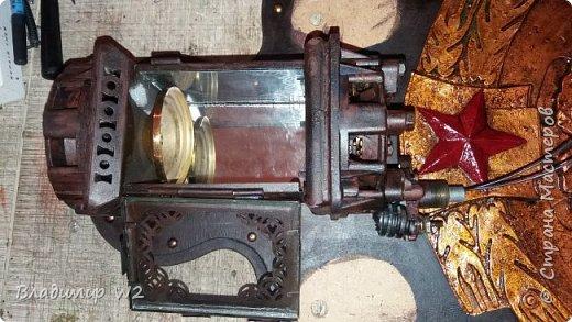 """Всем обитателям портала - привет!  Испёк свежий тортик: Steampunk Art часы, ночник: Орден """"Наш паровоз - вперёд летит!"""". фото 11"""