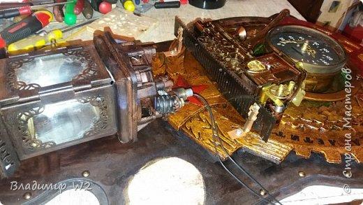 """Всем обитателям портала - привет!  Испёк свежий тортик: Steampunk Art часы, ночник: Орден """"Наш паровоз - вперёд летит!"""". фото 12"""