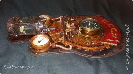 """Всем обитателям портала - привет!  Испёк свежий тортик: Steampunk Art часы, ночник: Орден """"Наш паровоз - вперёд летит!"""". фото 14"""