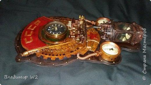 """Всем обитателям портала - привет!  Испёк свежий тортик: Steampunk Art часы, ночник: Орден """"Наш паровоз - вперёд летит!"""". фото 15"""