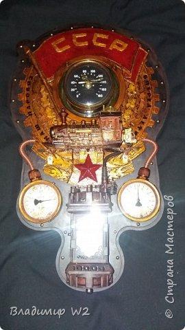 """Всем обитателям портала - привет!  Испёк свежий тортик: Steampunk Art часы, ночник: Орден """"Наш паровоз - вперёд летит!"""". фото 18"""