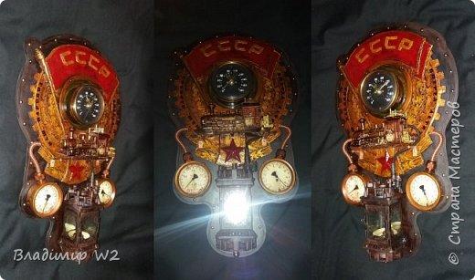 """Всем обитателям портала - привет!  Испёк свежий тортик: Steampunk Art часы, ночник: Орден """"Наш паровоз - вперёд летит!"""". фото 1"""