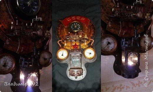 """Всем обитателям портала - привет!  Испёк свежий тортик: Steampunk Art часы, ночник: Орден """"Наш паровоз - вперёд летит!"""". фото 17"""