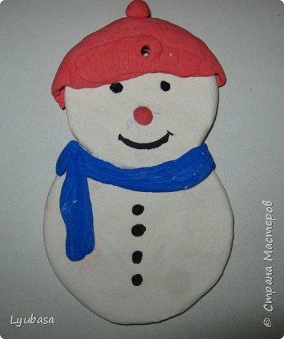 Снеговичок на новогоднюю елку от моих первоклассников.