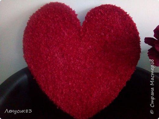 Вот такое сердце получилось для фотозоны к 14 февраля. Размер 1м. на 95 см. фото 2