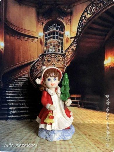 Все куколки сделаны из соленого теста, на каркасе. Лица разрисованы гуашью. Высота фигурок 9 см фото 5