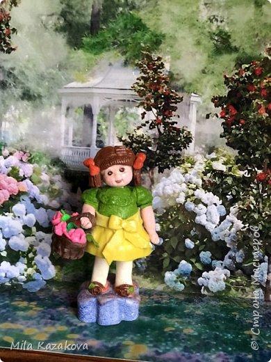 Все куколки сделаны из соленого теста, на каркасе. Лица разрисованы гуашью. Высота фигурок 9 см фото 3